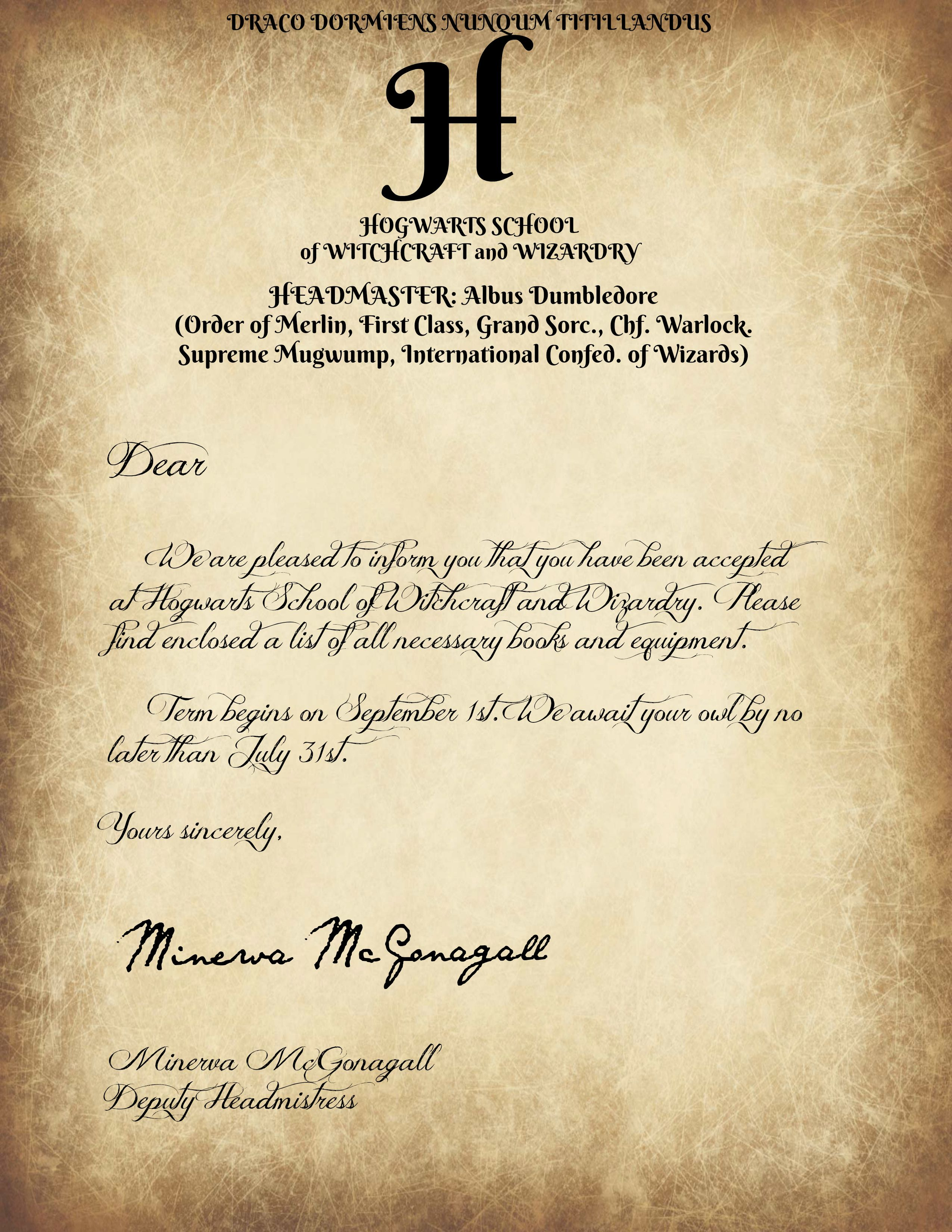 Hogwarts Letter   Savvy Journey   Potterhead   Pinterest