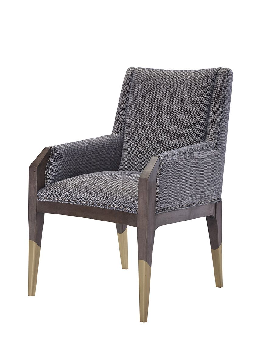 8506 11 tate arm chair with gilded legs