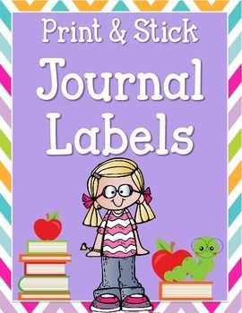 journal and folder avery labels april pinterest classroom