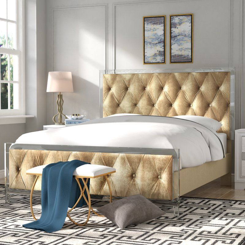 Matheney Platform Bed Panel bed, Tufting buttons, Furniture