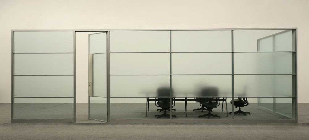 Wholesale soundproof half glass office partition view Office partition walls with doors