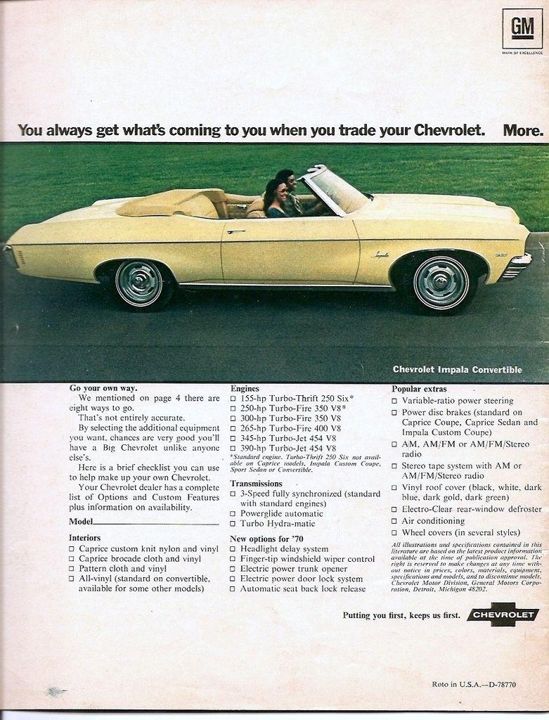1970 Chevrolet Impala Convertible Mine Wasn T Convertible But A