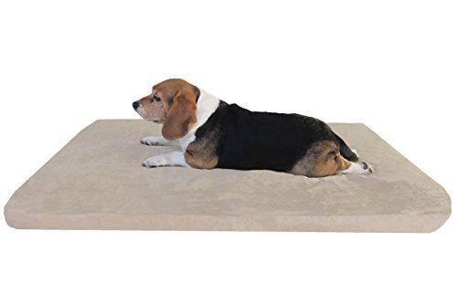 Orthopedic Xlarge Waterproof Memory Foam Pad Dog Bed With Tan