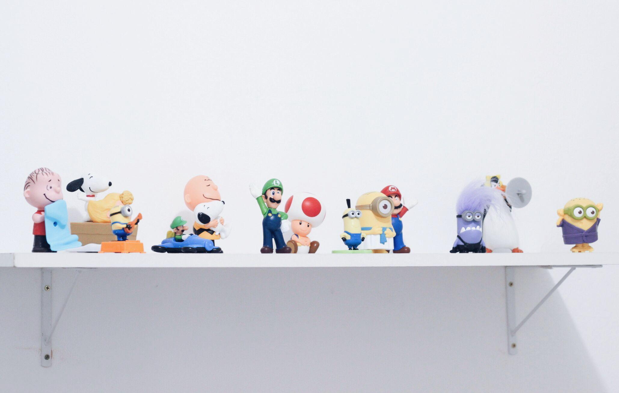 Coleção de Toys do Mc Donalds.