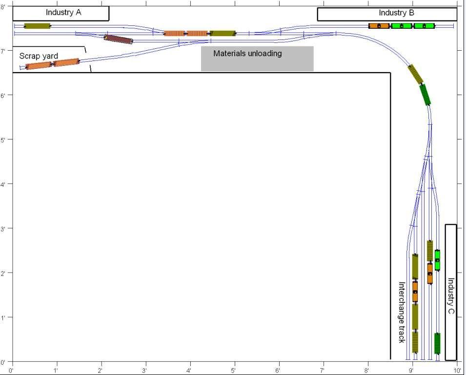 idea s for a switching layout model railroader magazine Ian Rice Shelf Layouts Shelf Layout Track Plans