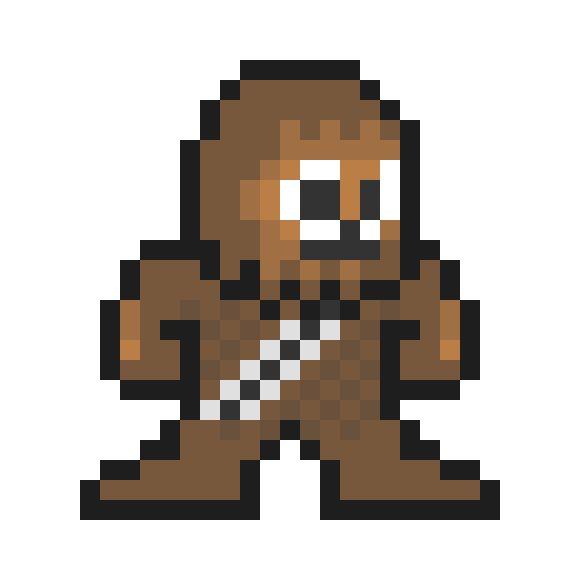 Chewbacca Pixel Art Cross Stitch Art