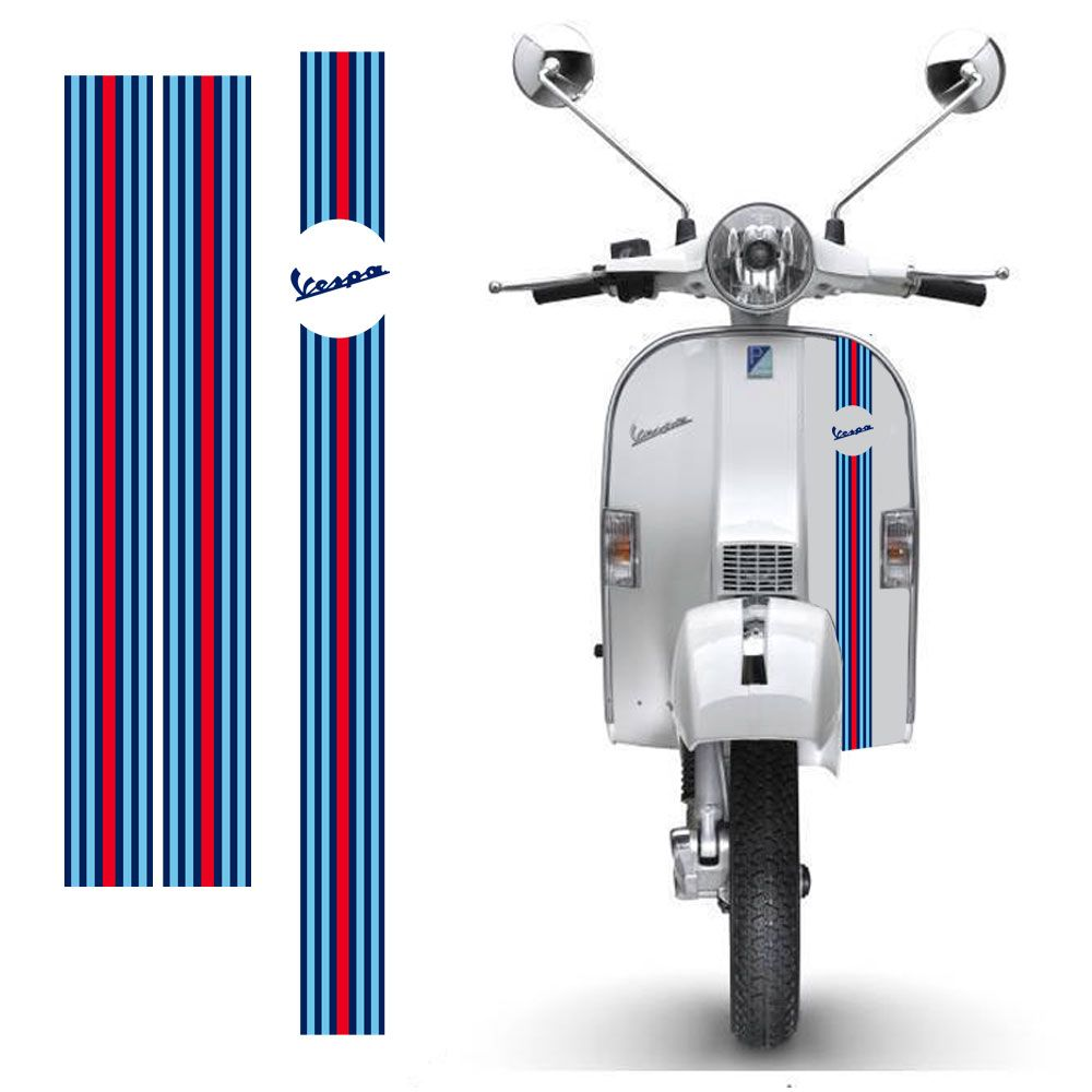 Adesivi Vespa Martini Sticker 3 Pz All Around Mev