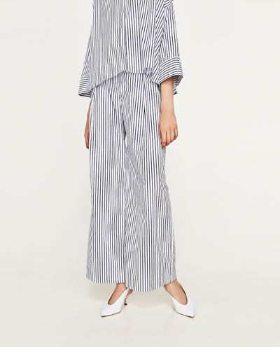 5345d706 STRIPED PALAZZO TROUSERS-NEW IN-WOMAN   ZARA United States   Fashion ...
