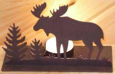 Moose Rustic Lighting Metal Moose Lodge Accessories Moose Cabin Decor