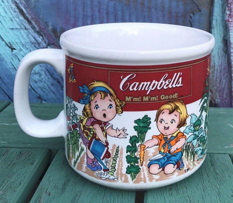 Vintage Campbell\'s Soup Kids Vegetable Garden Mug Bowl Dish Cereal ...