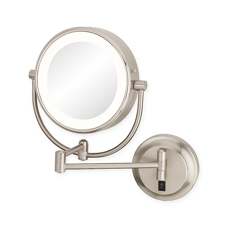 Kimball Young Neomodern 1x 5x Magnifying Mirror In Brushed Nickel Magnifying Mirror Magnification Mirror Mirror