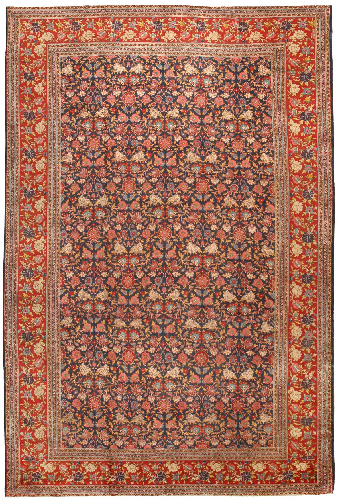 Antique Tabriz Carpet 11.9 X 17.11 - Antique Rugs and Carpets