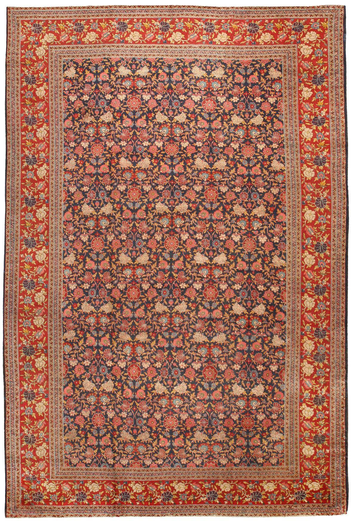Antique Tabriz Carpet 11.9 X 17.11 - Antique Rugs and Carpets