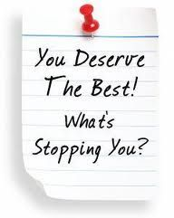 We all deserve the best