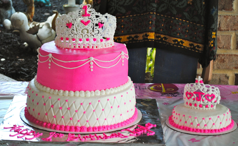 Princess Birthday Cake 2 Ties Double Layer Vanilla W Vanilla Bc
