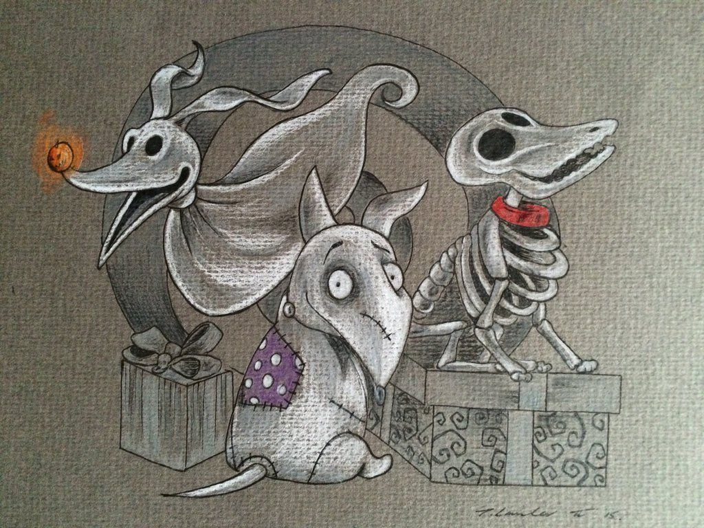 Image result for nightmare before christmas zero drawing | Disney ...
