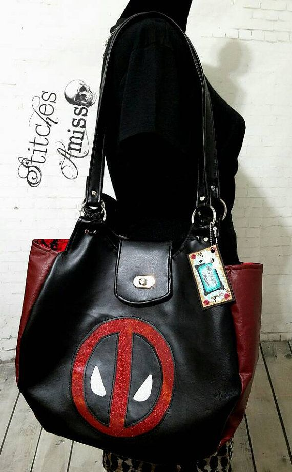 606f91b8be14 Large deadpool hobo bag