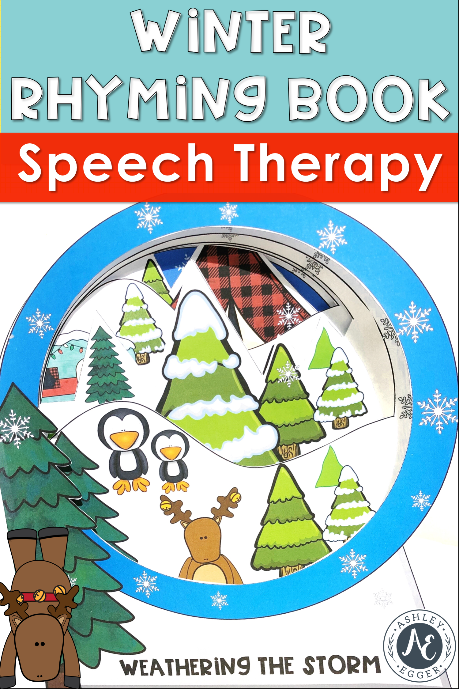 Winter Activities And Rhyming Book For Speech Therapy