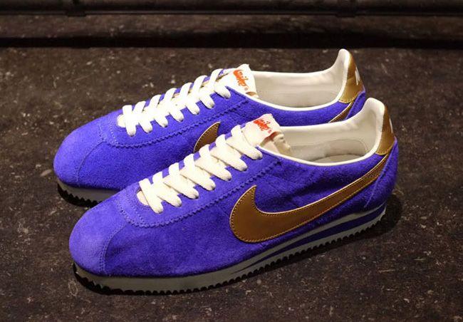 ... Nike Classic Cortez Vintage Blue Gold ... b5261f1de60c1