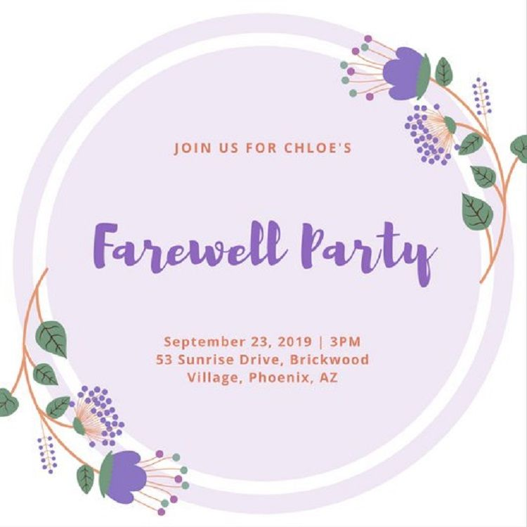 farewell party invitation meaning