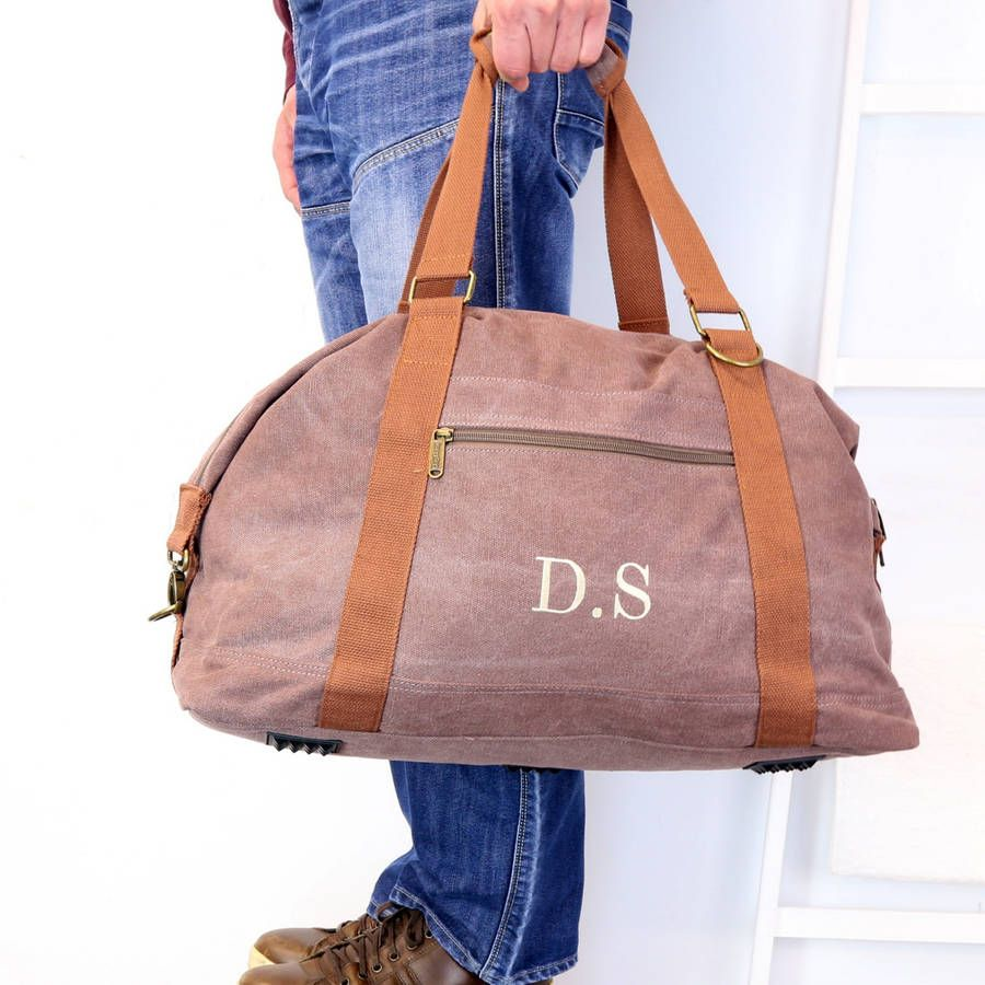 091c3f9048facd personalised vintage canvas weekend holdall bag by duncan stewart textiles    notonthehighstreet.com