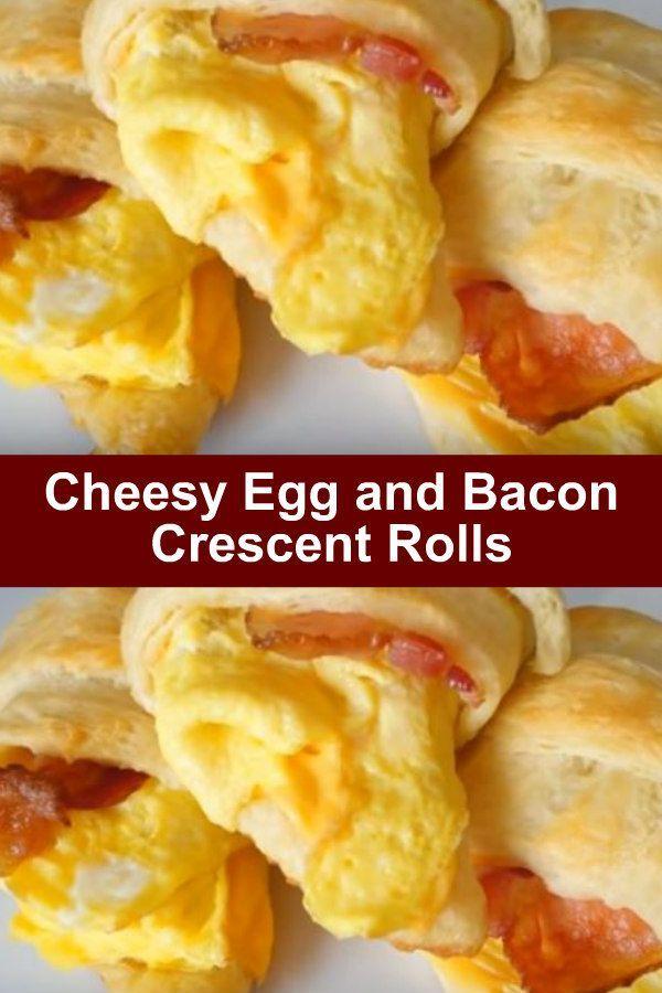 Cheesy Egg and Bacon Crescent Rolls - Cheesy Egg and Bacon Crescent Rolls. Compete breakfast recip
