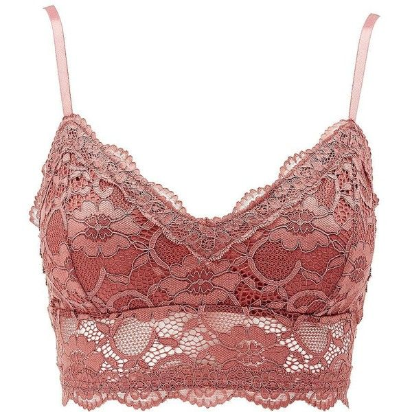 a9e88db406fd3 Charlotte Russe Long Line Lace Bralette ( 11) ❤ liked on Polyvore featuring  intimates