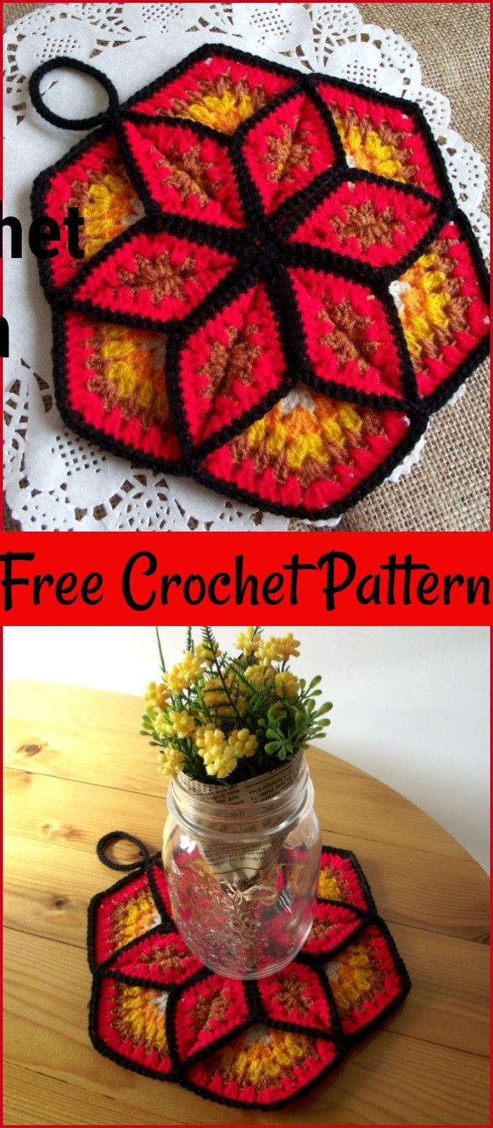 Free Crochet PotHolder Patterns For Your Kitchen – Craft Ideas #crochetpotholderpatterns