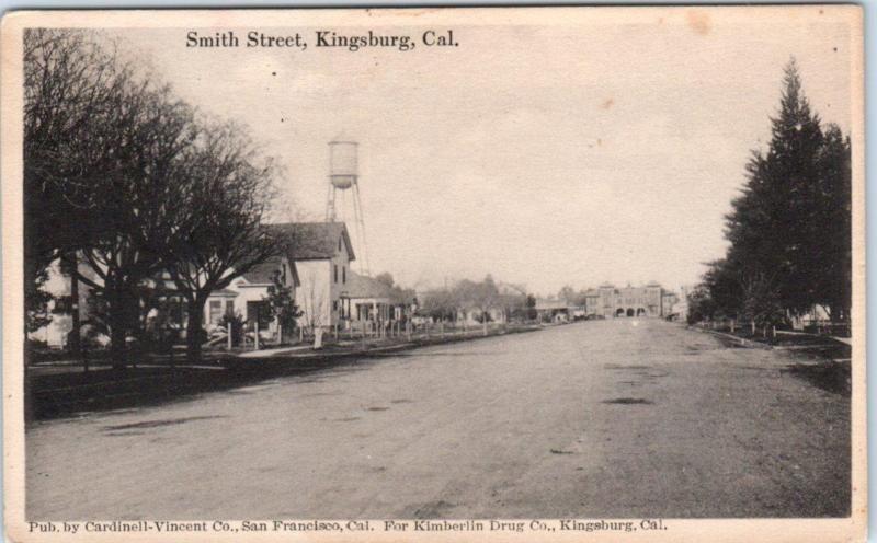 Kingsburg California Ca Smith Street Scene 1917 Fresno County Postcard Fresno County California Ca Street Scenes