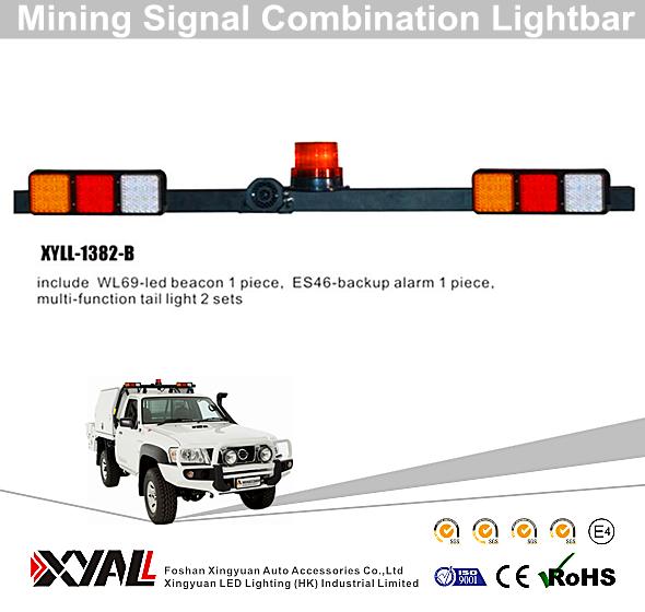 Dual Light Warning Signal Led Mining Light Bar High Mount Mining Light Bars Led Adjustable Mine Lightbar 1 Piece