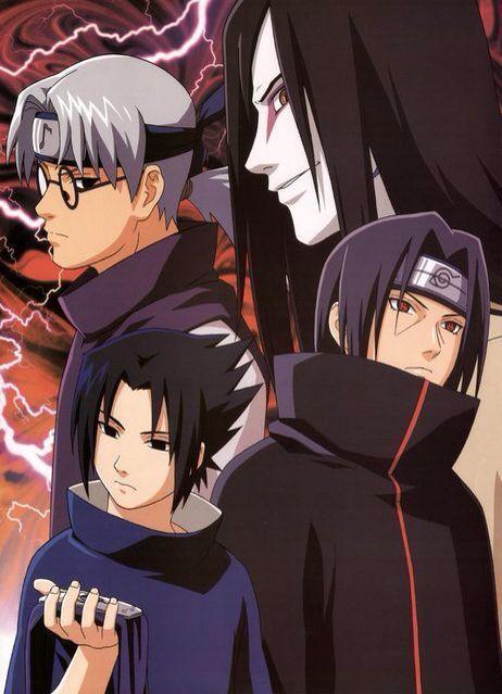 Naruto Orochimaru Kabuto Sasuke Itachi Anime Anak Laki Laki Anak Laki Laki Anak Laki