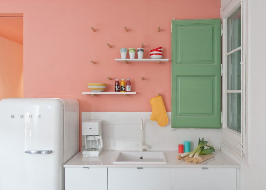 Pastel Interieur Barcelona : Pin by colleen shelnutt on pastel pink vintage kitchen heaven