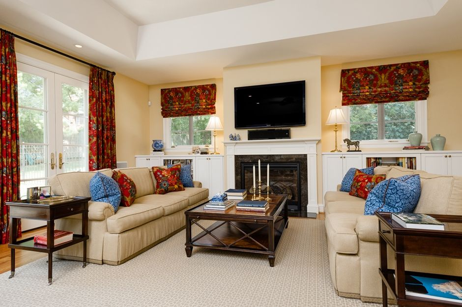 Traditional hearth room by st louis interior designer nancy spewak living room