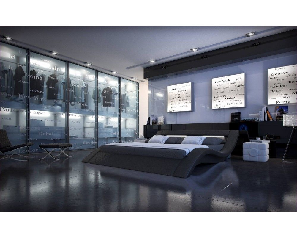 Lit design noir lumineux Sydney | House