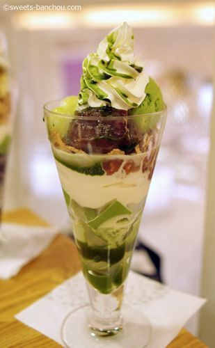 Japanese Snack Matcha Parfait! Looks delicious.