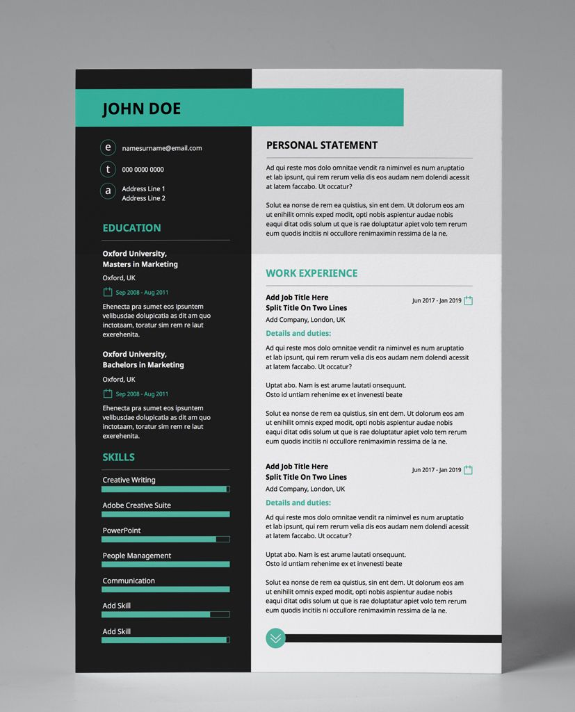 Tech Job Resume Design Vivid Colours Editable 2 Page Pdf Template Resume Design Cv Template Downloadable Resume Template