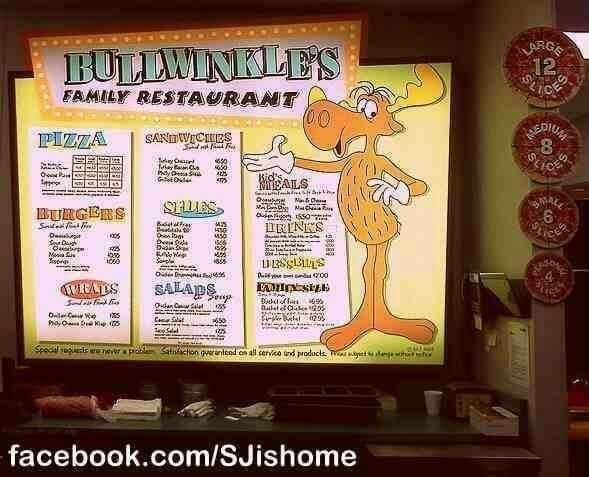 Bullwinkle's menu, Santa Clara back in the day.  #SiliconValley #BackInTheDay
