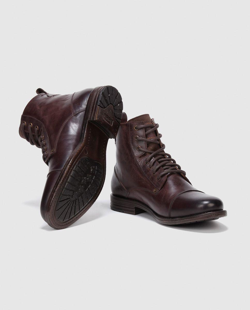 Botas de hombre Levi´s marrones de piel · Levi s · Moda · El Corte Inglés 47b53dccd69