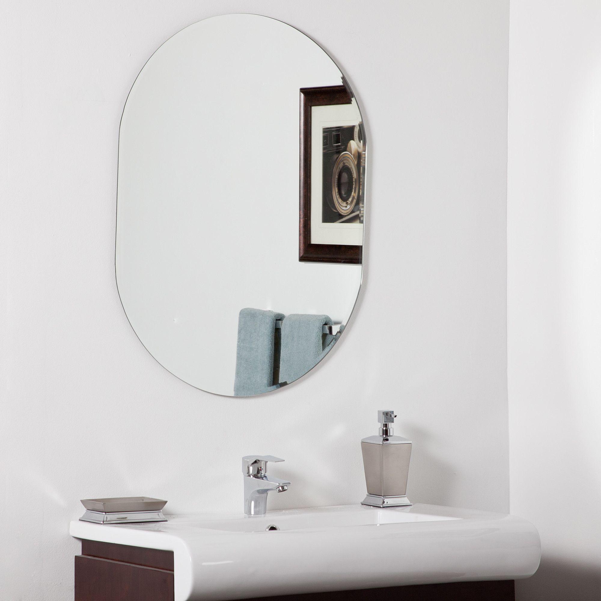 Found it at Wayfair - Khloe Modern Bathroom Mirror $110 24 wide by ...
