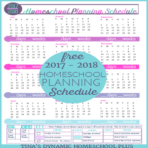 Free 2017-2018 Year Round Homeschool Planning Form (Spring Color)