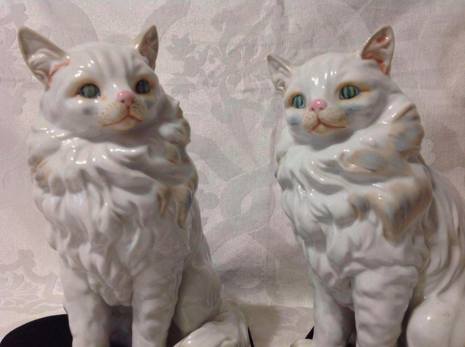 1970's Beautiful Pair LG Porcelain Seymour Mann Persian Cat Figurines Perfect | eBay