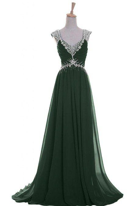 Vestido verde esmeralda amazon