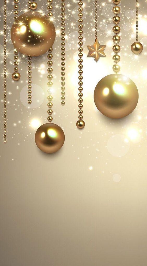 Fundos com decorações de Natal com formatação para Celular.