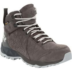 Jack Wolfskin waterproof women hiking shoes Cascade Hike Backlength Texapore Mid Women 39.5 gray
