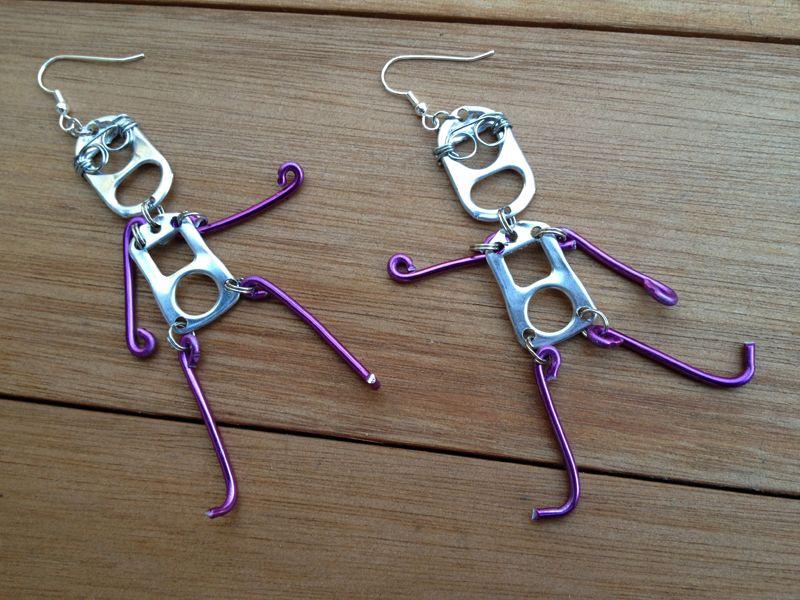 RICICLO CREATIVO - Linguette delle lattine e fili d'alluminio colorato per creare simpaticissimi orecchini Seguici sul nostro blog tecnico: http://creazionebijoux.cplfabbrika.com/