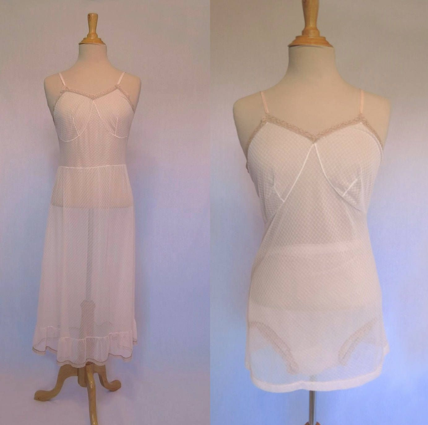Lace dress 50s  Three Piece Lingerie Set  s by LouisaAmeliaJane on Etsy  VFG