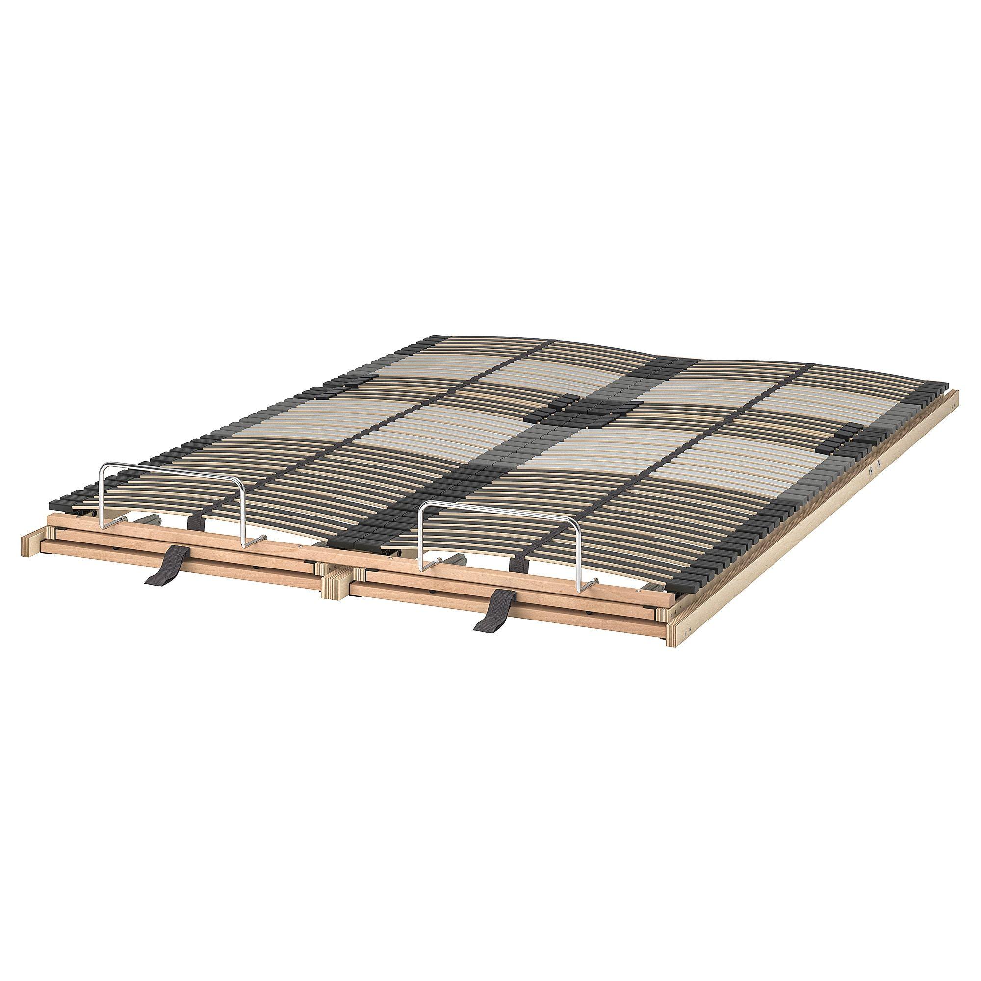 Leirsund Slatted Bed Base Adjustable Full Bed Slats Bed Base