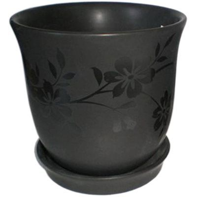 New England Pottery 4 5 In Black Rose Planter Gardening Pots