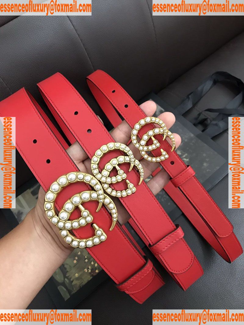 c26f45d1d086 Gucci Pearls GG Leather Belt Gucci Luxury Belts 20MM 30MM 40MM A175PP240  AA74311