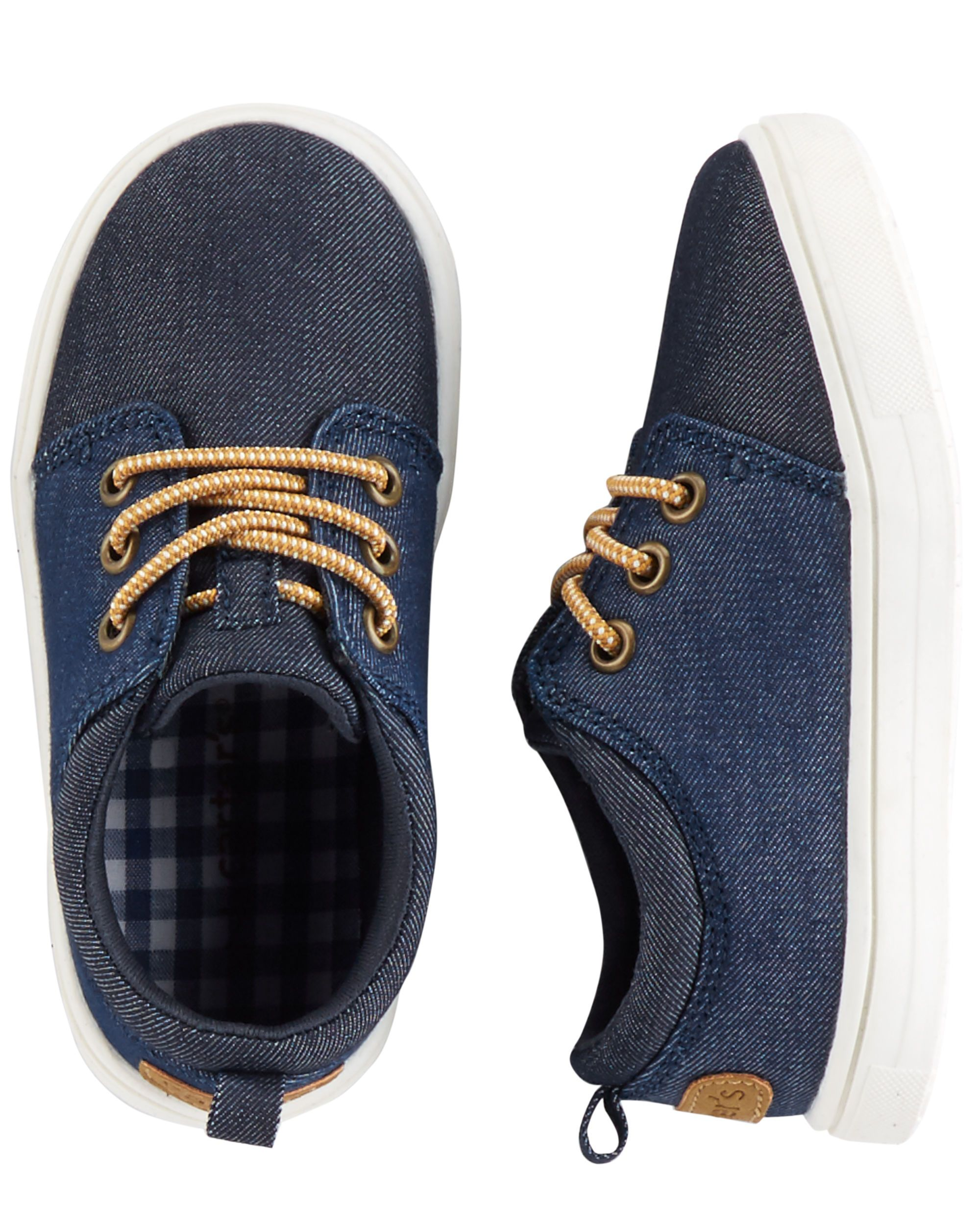 Carter's Denim Casual Sneakers | Boy shoes, Baby sneakers ...